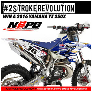 CLICK IMAGE TO ENTER TO WIN A FREE YAMAHA 250X