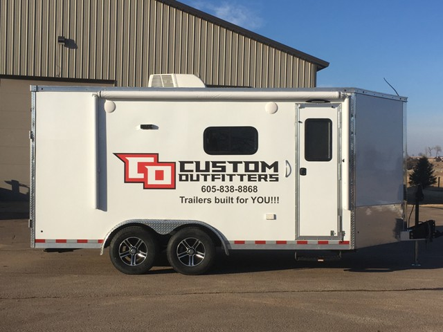 Trailer on display at all national enduro events