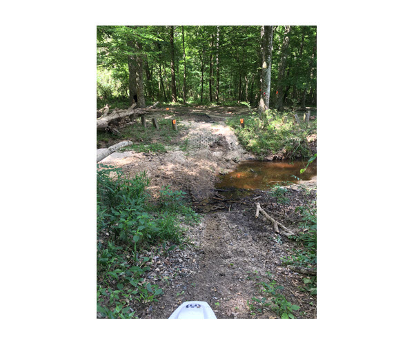 Creek crossings with brick layed down