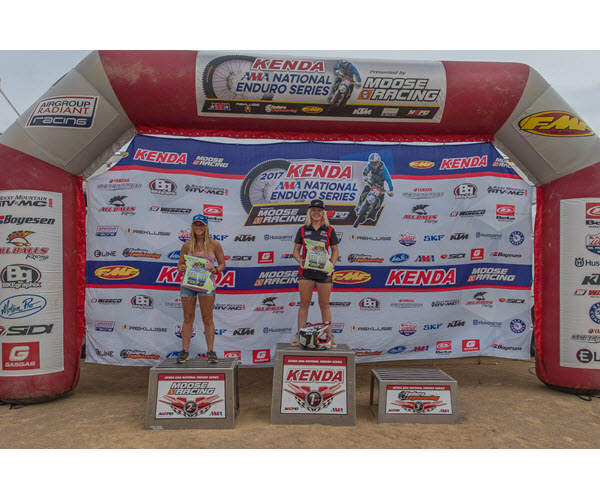 """Also wrapping up a title was Tayla Jones, who clinched the Women's Elite championship on her KR4 Arrive-n-Ride Husqvarna with a dominating win in Missouri. Jones was also undefeated on the year with six wins. Second place went to Taylor Bonecutter on her Bonecutter Beta, while Yamaha-mounted Jennifer Sheppard was third.  """"I'm pretty stoked to wrap up the title,"""" said Jones. """"Last week I wrapped up the GNCC title, so it was great to add this one. It was a bit dry out there so I just tried to stay upright and not make too many mistakes, but I ended up having a good day.""""  The Open A class was won by Sam Mattingly, while the 250 A class was won by fellow Yamaha rider James King.  The 2017 Kenda AMA National Enduro Series resumes action on October 15th for the Zink Ranch National Enduro, round eight of the series in Sand Springs, Oklahona. For more information on the Kenda AMA National Enduro Series check out  www.nationalenduro.com .   RESULTS    OVERALL   1. Steward Baylor (KTM)  2. Grant Baylor (Hsq)  3. Thad DuVall (Hsq)  4. Evan Smith (KTM)  5. Josh Strang (Hsq)  6. Cory Buttrick (KTM)  7. Ben Kelley (KTM)  8. Jesse Groemm (KTM)  9. Thorn Devlin (Hsq)  10. Russell Bobbitt (KTM)    Media Contact:  Shan Moore   shan@tandenews.com   (918) 625-2899"""