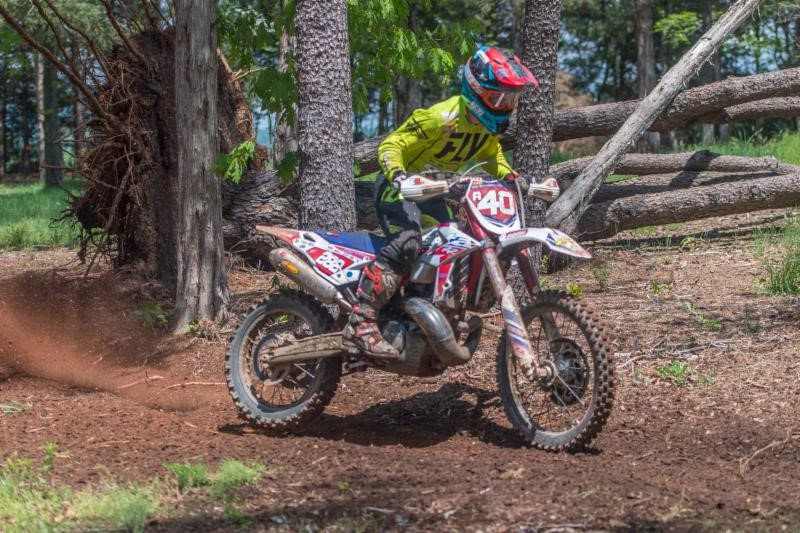 """Photo by Shan Moore   MIKE WITKOWSKI    Series: National Enduro    Bike: Beta 250 RR Race Edition     """"The race started out really well for me. I love technical trails and slippery conditions, and that's exactly what it was. It had just rained before our first test of the day. I personally had the most fun, the track couldn't have been better! I rode consistently through the day and grabbed my best Enduro result this year. My beta machine ran amazing all day long! Specially loved it in the nasty tricky terrain."""""""