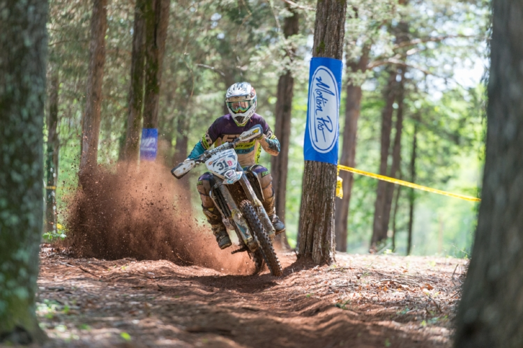 Ben finishing strong at the Dragon's Back National Enduro in Virginia this past May