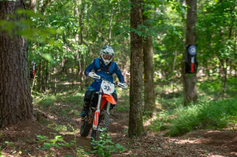 Thomas tearing up the perfect Georgia Dirt at Cherokee National Enduro  Photo By Darrin Chapman