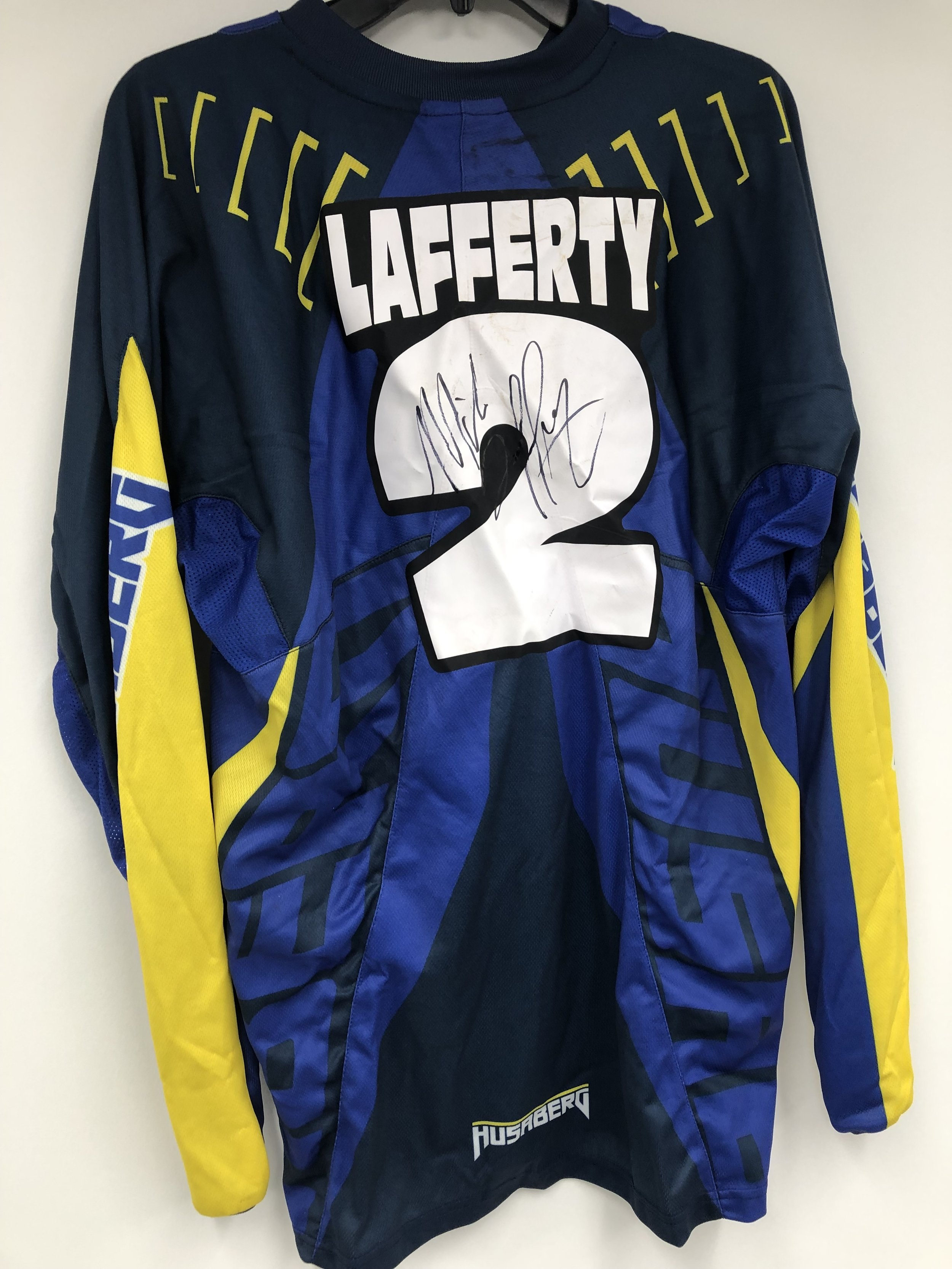 Click the image to bid on Mike Lafferty Husaberg Jersey