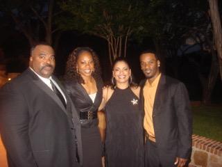 Coach & Brenda Madden with Aaron Ross & Sanya at Fundraiser