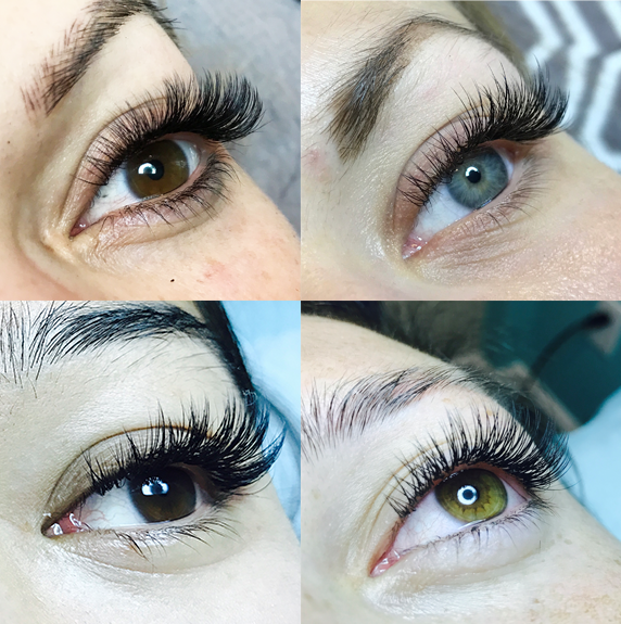 Pictures above are actual eyelash extensions done at Eve Beauty Lash and Permanent Makeup Studio