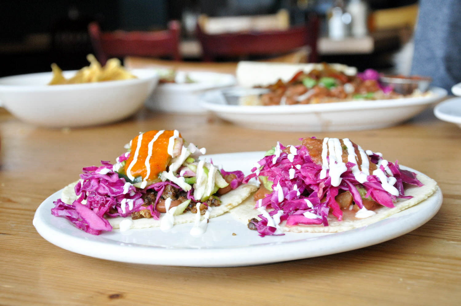 Mix & Match Tacos: Wolf & Goat and Connie (6.5).