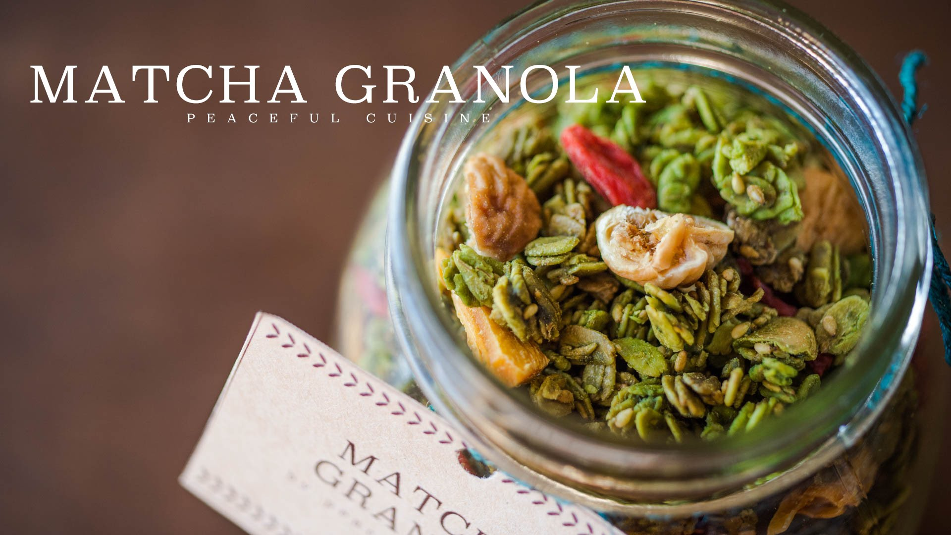 Picture & Recipe of Matcha Granola from Peaceful Cuisine