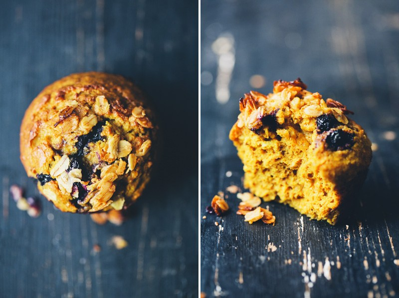 Blueberry Turmeric Muffins from  Green Kitchen Stories