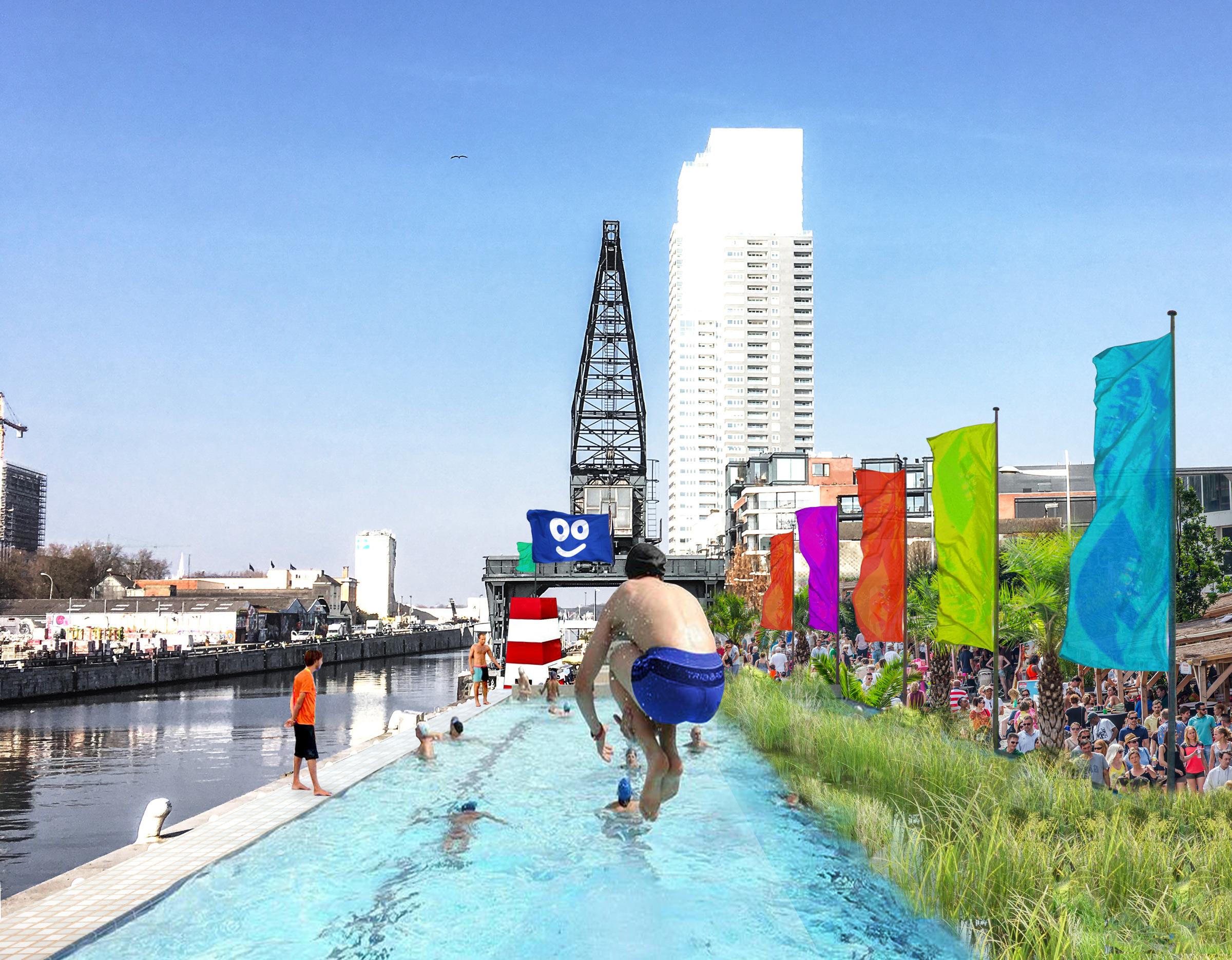 Proposal for a pool at Bruxelles Les Bains / Proposition pour une piscine à Bruxelles Les Bains /Voorstel voor een zwembad op Brussel Bad - 2017