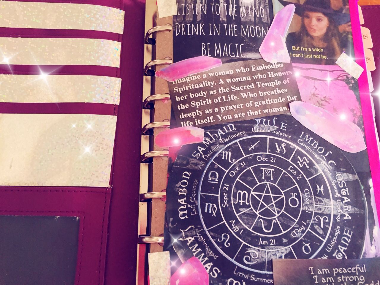 A sneaky-peek into  Hilary Lavendarwhisp 's planner-based book of shadows