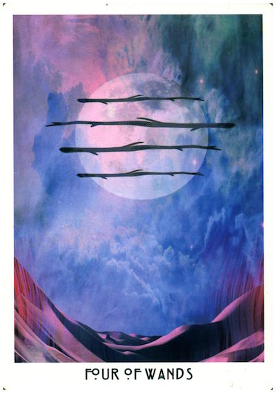 Message: Create your foundation. - 4 is the number of stability. Every structure in the universe builds from a place of symmetry. The Wands speak to creativity, willpower, & spirited endeavors. What have you manifested to build your life on?