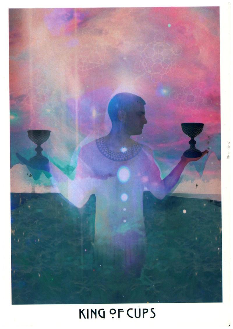 Emotional Stability: The Better To Keep The Big Picture Front & Center. - The Cups speak to matters of the heart: relationships & love, both familial & Divine. Cups also deal in visions & artistic expression. The King of Cups can symbolize a benevolent patriarch-type in our life: sweet-hearted, soulful, & steady as a wide, deep river. He's tuned into his feels, but never swayed by others' knee-jerk emotional responses to life. His empathy is great enough to bear-hug whatever you're feeling without absorbing it.The King of Cups is an emotionally sovereign visionary. He rules with his heart, because he's done a lot of work discerning his intuition from his emotions. Emotions are reactive while intuition is generative. Wisdom is solid; doesn't wiggle or jive. Emotions & superficial feelings about our circumstances may cloud judgment; set us on the edge of hysterical busy-ness or nervous meltdowns. The King prefers smooths surfaces, so his heart can expand into the deepest nooks & crannies of his psyche.The King of Cups asserts, I'm in charge of my feelings, babe. I trust & lead my life with my intuition.