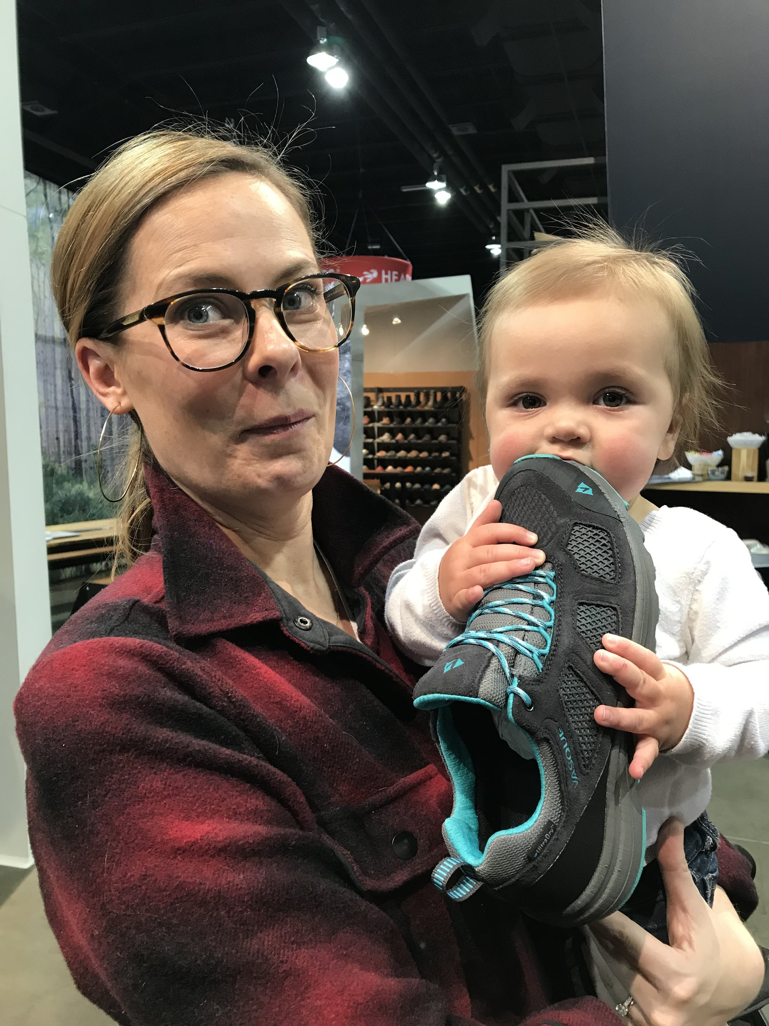 They're not typically meant for eating, but we won't tell her any different. JAM Team member Amy May with  Heather Balogh's  daughter, Lilliana.