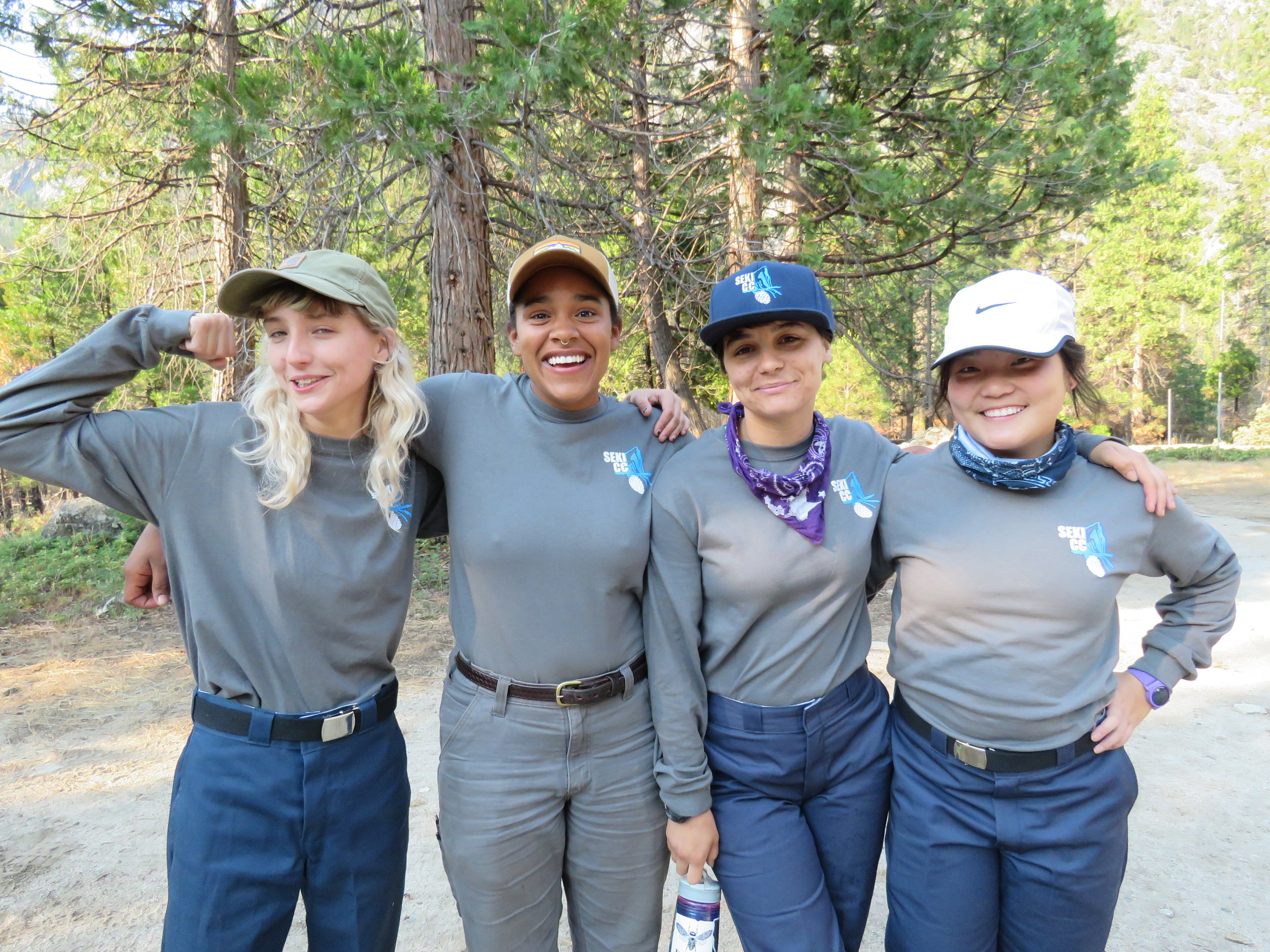 A trail crew living and working in national parks during the summer. Courtesy of Eastern Sierra CC.