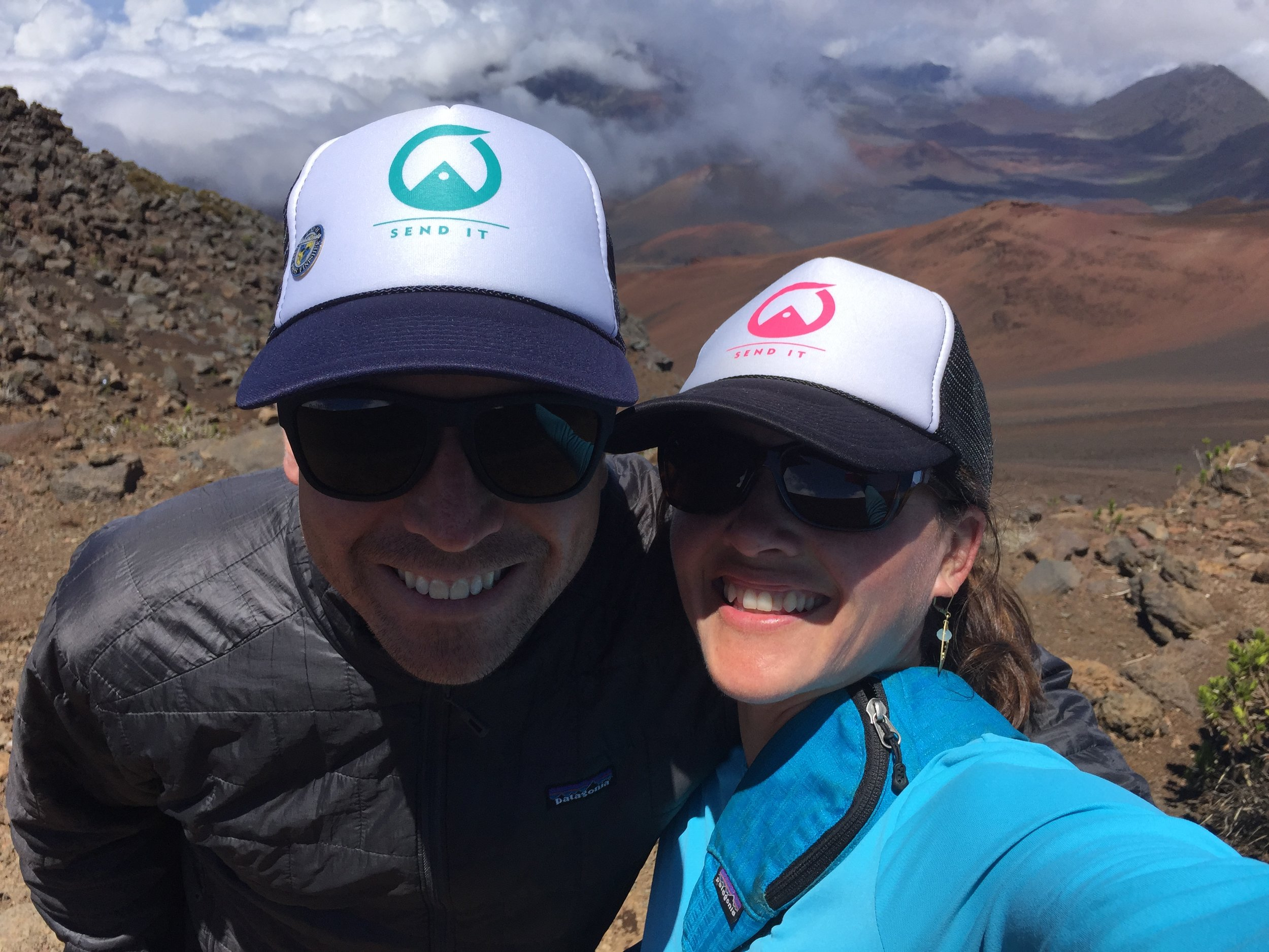 July and husband, Scott, on top of the Haleakala Crater