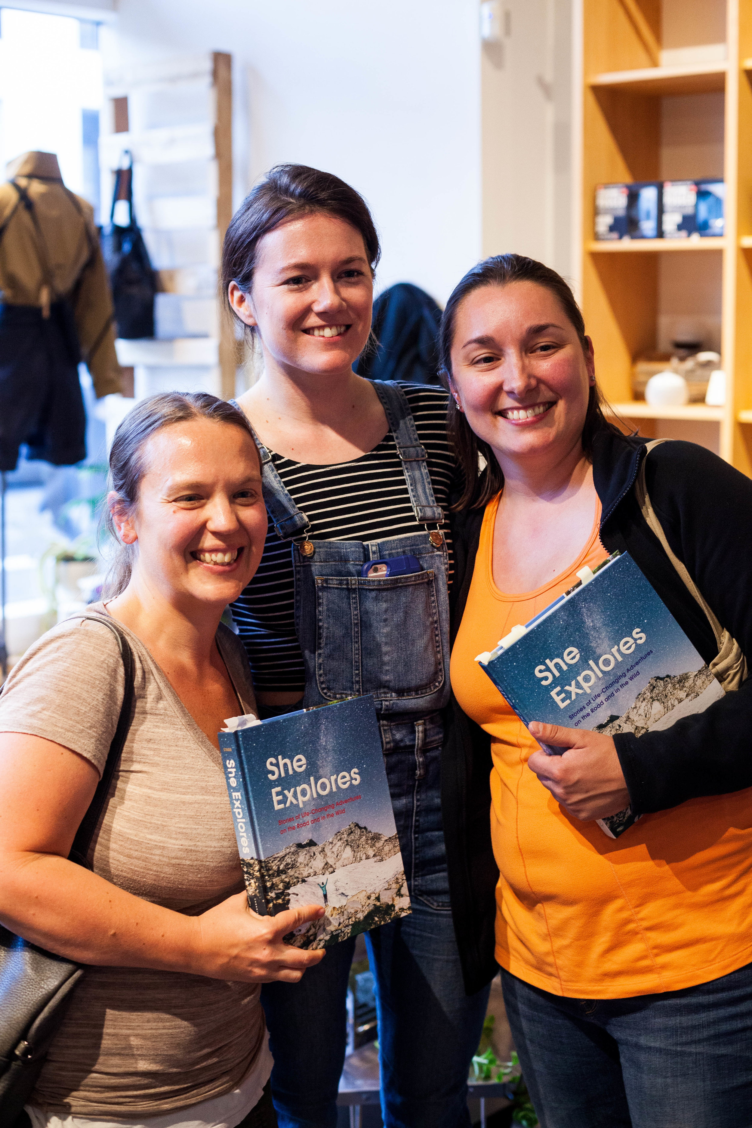 She Explores book launch at Snow Peak in Portland. Photo courtesy of Anna Brones.