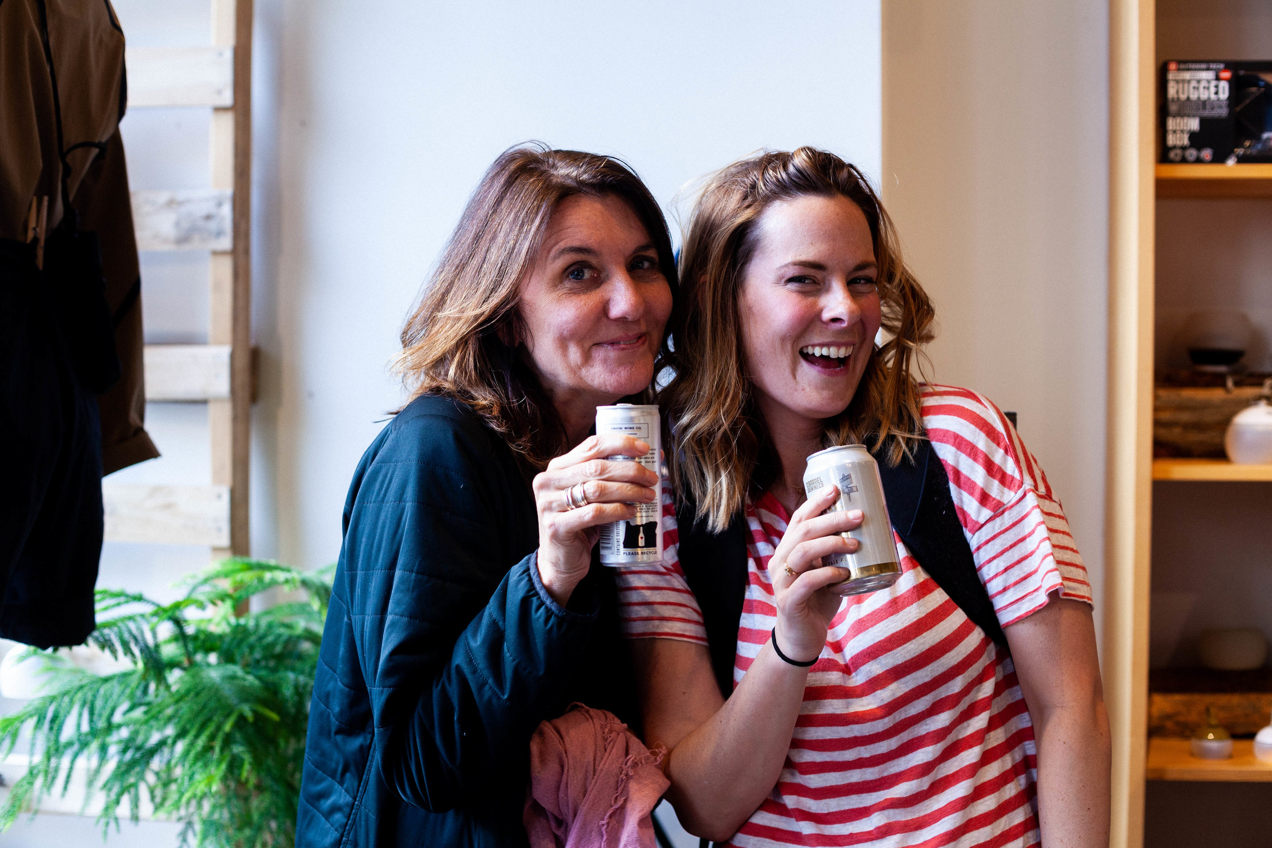 JAM's own Julie  and Amy May at the She Explores book launch. Photo courtesy of Anna Brones.