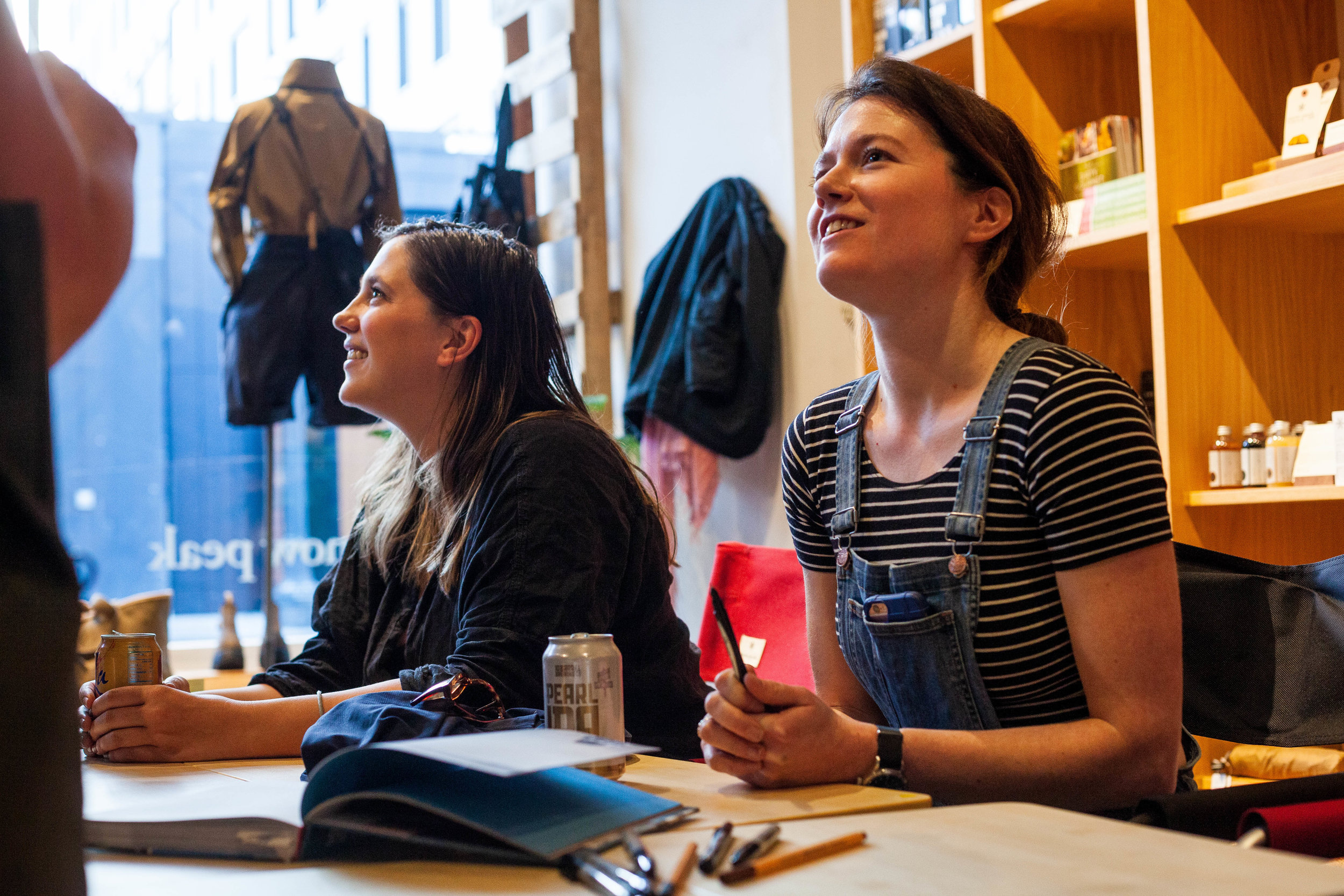 Gale signed copies of the new She Explores book at the launch. Photo courtesy of Anna Brones.