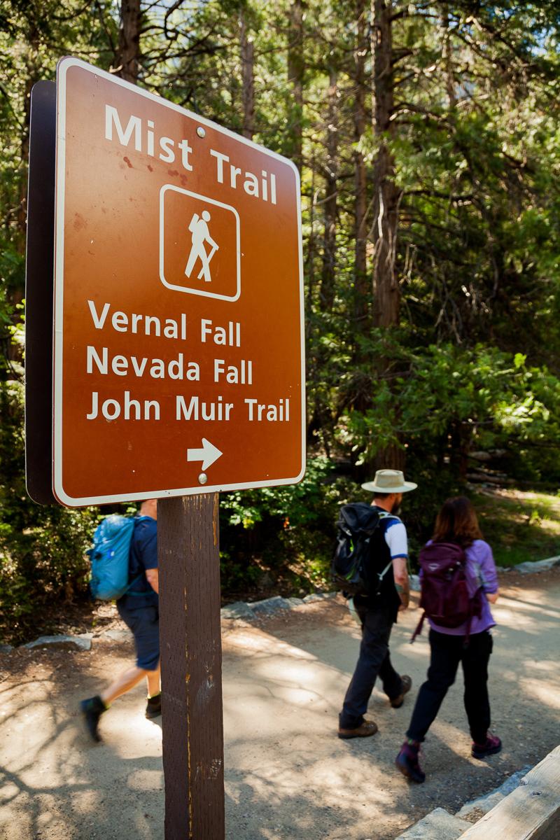 Yosemite's infamous Mist Trail.