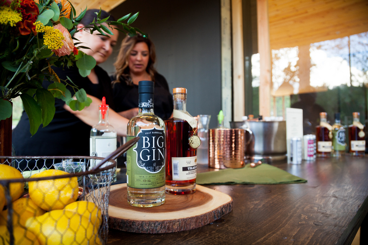 Happy hour time, featuring spirits from Hood River Distillers.