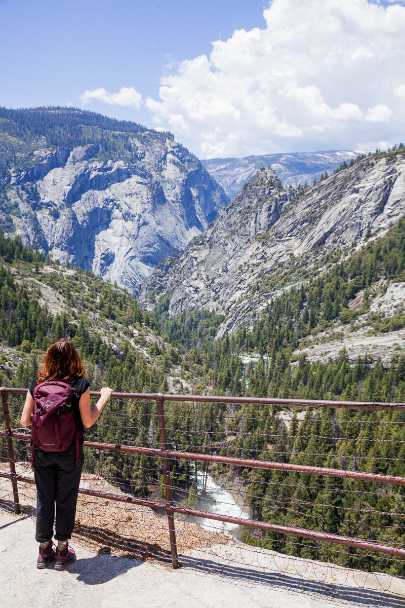 Julie Atherton taking in one of the valley's countless breathtaking views.