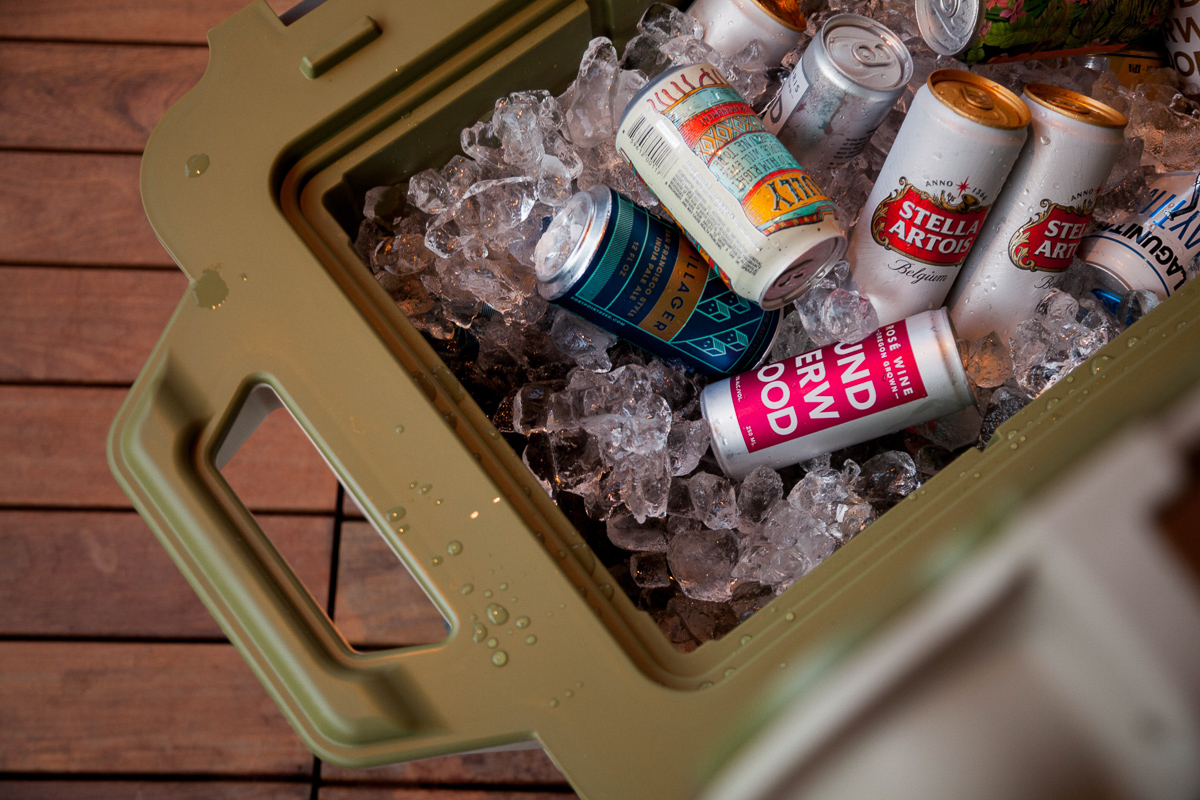 Those indestructible OtterBox coolers keeping our libations chilled.