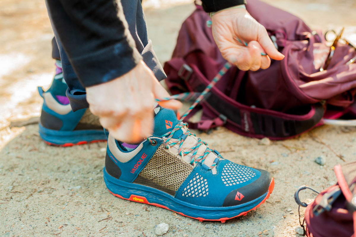 Lacing up the new Vasque Breeze Lite GTX for a trip with Y Explore.