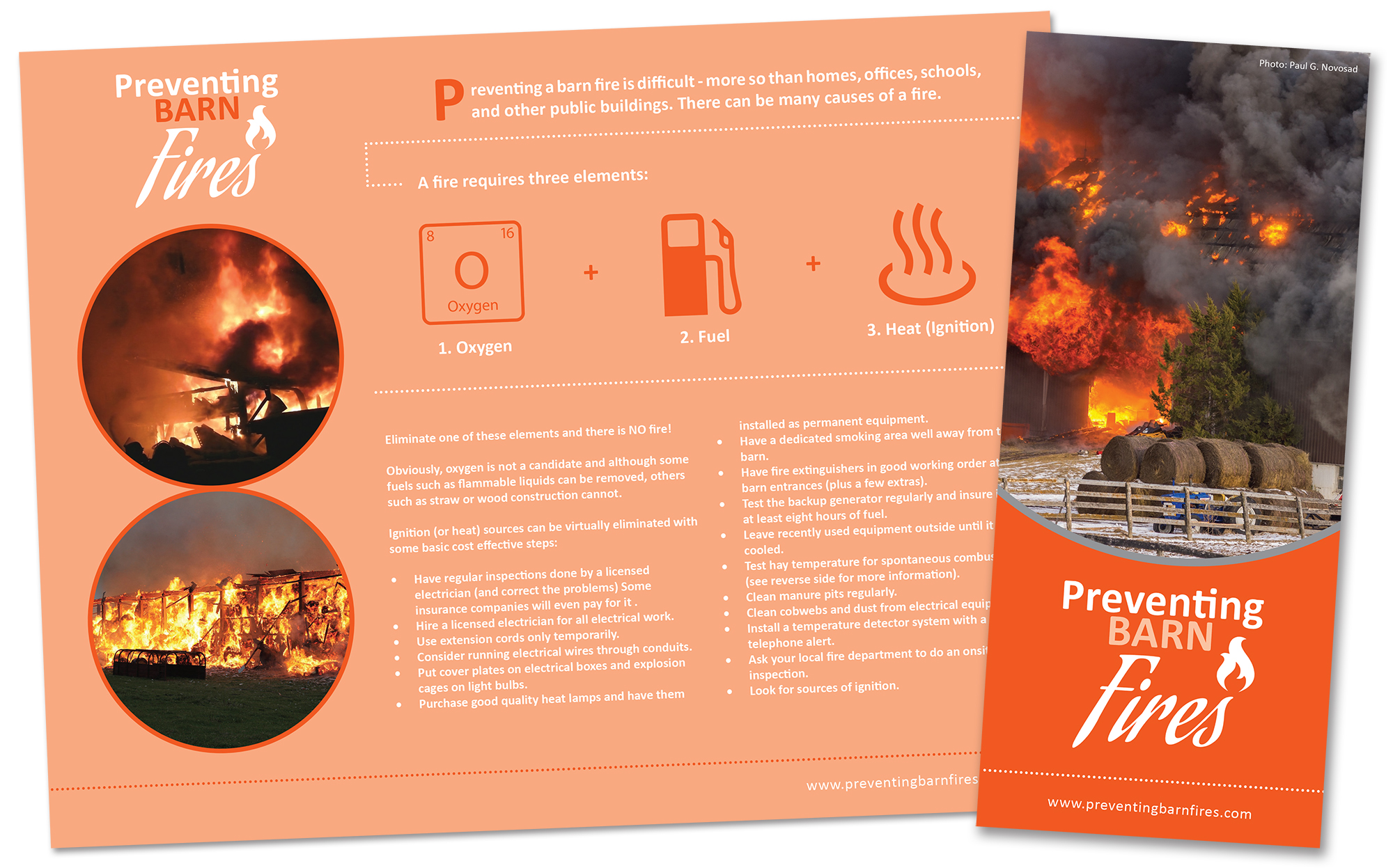 Z-fold brochures (English and French versions)