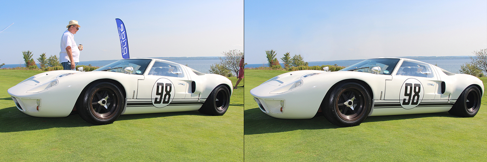 Before and after. Ford GT40.