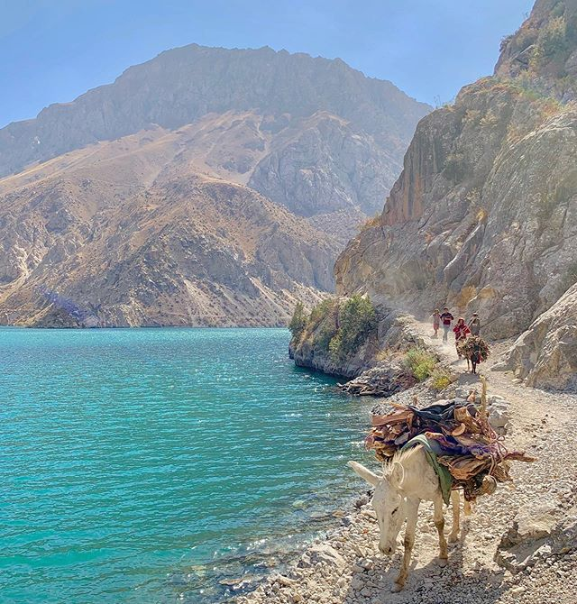 """The seventh of Tajikistan's iridescent Haft Kol Lakes. (There's a """"check out dat ass joke"""" in here somewhere but I'm too jet lagged to figure it out.)"""