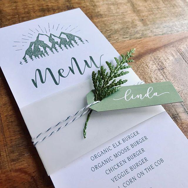 🍃pressed florals and gorgeous botanicals - the perfect finishing touch to your stationery ✨  #pureweddesign #weddingstationery #weddingmenu #weddingplacecards #okanaganwedding #botanicalwedding