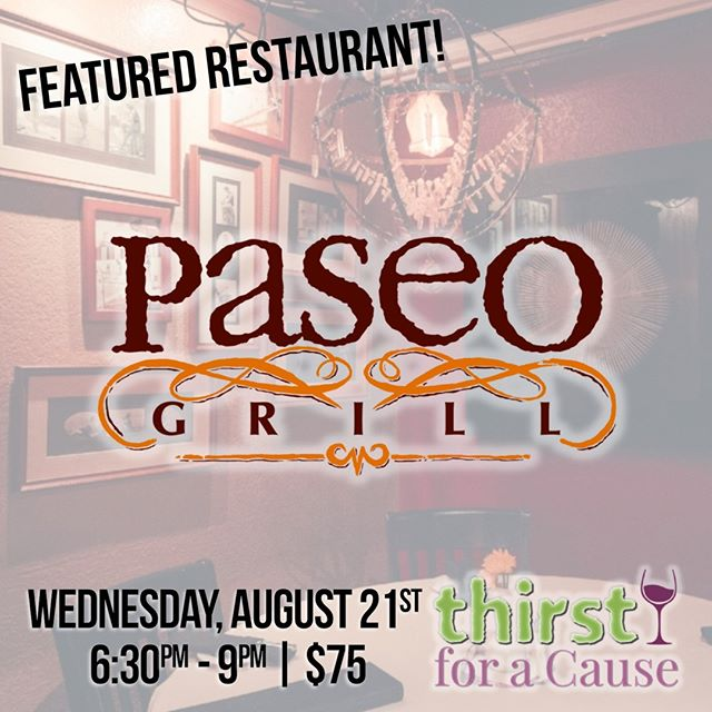2019 FEATURED RESTAURANT: Paseo Grill! Located in the middle of Oklahoma's historic Paseo Arts District, @paseogrill presents a casual, yet sophisticated dining experience, serving specialty drinks and classic American cuisine with an international flair.⁠ .⁠ [11th Annual Thirst for a Cause]⁠ ⁠ Wednesday, August 21st⁠ 6:30pm - 9:00pm⁠ .⁠ $75 in advance | $89 at the door (if available)⁠ 21+ | www.thirstforacause.com⁠ .⁠ .⁠ .⁠ .⁠ .⁠ .⁠ .⁠ .⁠ .⁠ .⁠ #thirstforacause #paseogrill #okrestaurants #thirstwine #thirstday2019  #winetasting #winelover #winewednesday #oklahomalife #okcfoodie⁠ ⁠