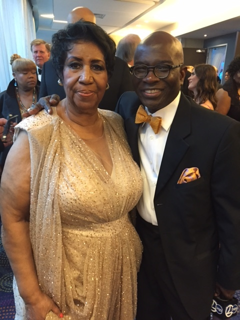 Singer Aretha Franklin with Armstrong Williams at the White House Correspondents dinner. (Courtesy: Armstrong Williams)