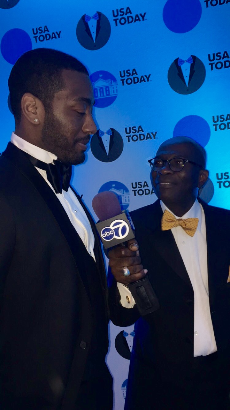 Williams interviewing John Wall, a professional basketball player. (Courtesy: Armstrong Williams)