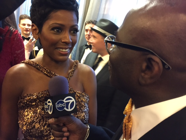 Williams interviewing Tamron Hall, a national correspondent for NBC News.  (Courtesy: Armstrong Williams)