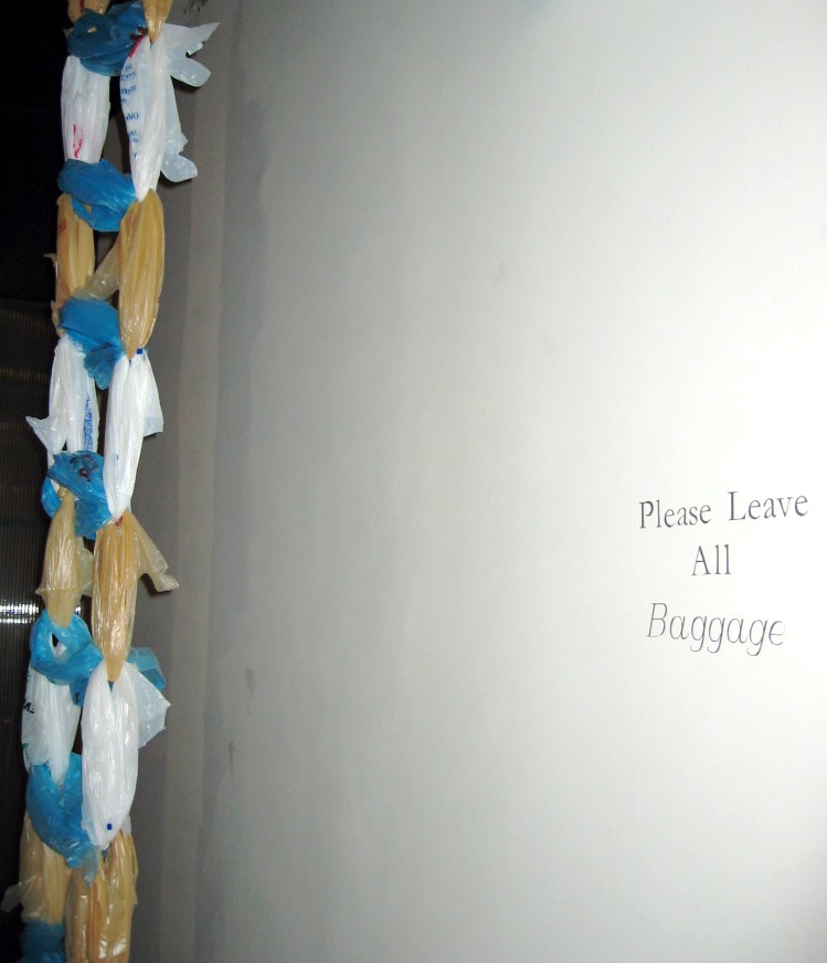 Please Leave All Baggage , installation view from Diamonds On Archer, Chicago 2005