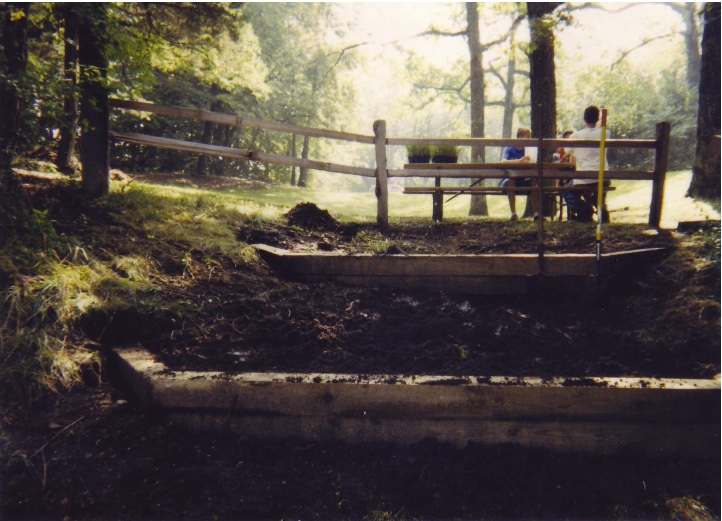 erosion control intervention, Tyranena Park, Lake Mills, WI 1998