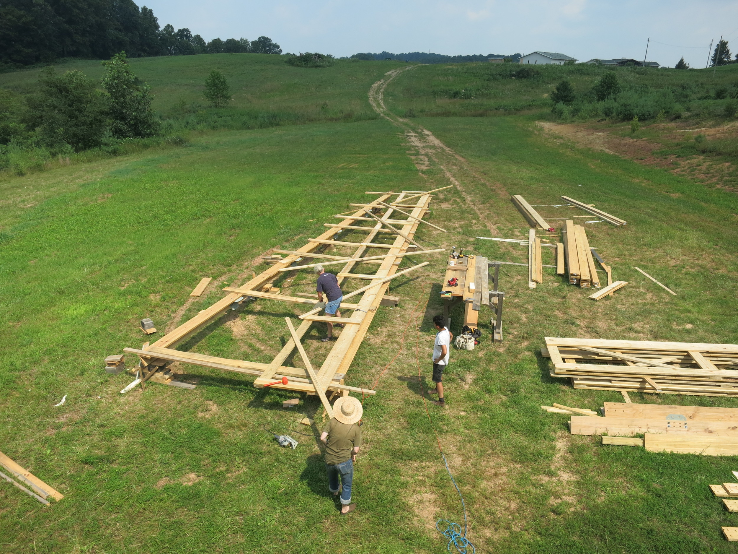 Le Grand Dehors  pre-fabrication, Harold Arts, Ohio 2013