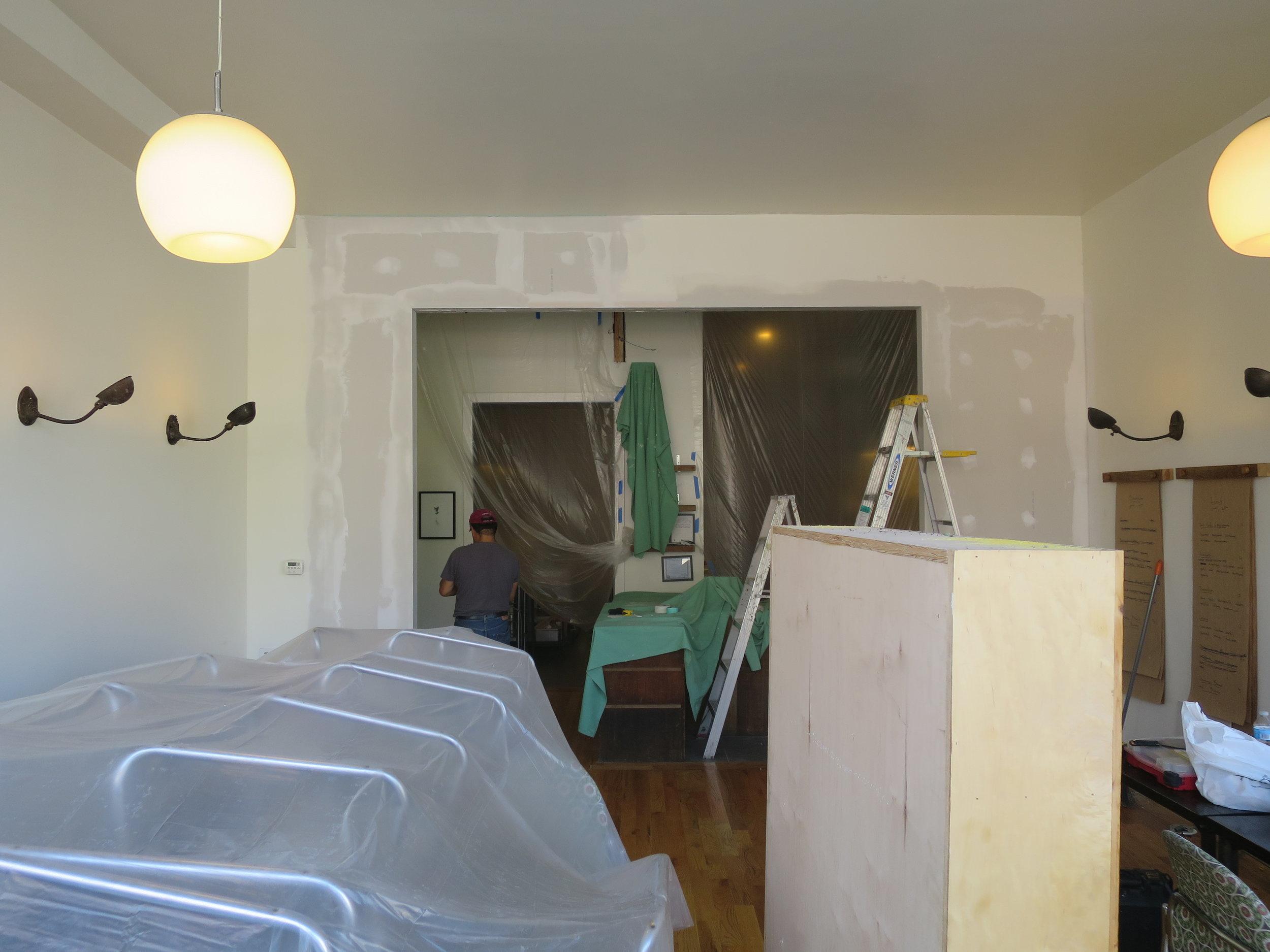 beginning of renovation
