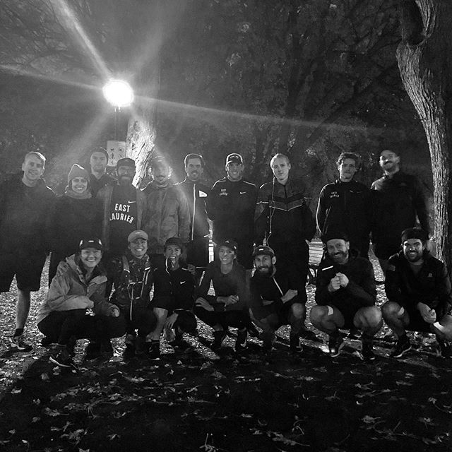 Last Tuesday run in the Park ⚡️ ⚠️Tomorrow we are meeting at our winter spot, Bar Chez Baptiste—  1045 av. Mont-Royal E. at 7:25PM.  Bag check available, space is limited, pack light! ⚠️ #ELRC #winterrunning #crewlove