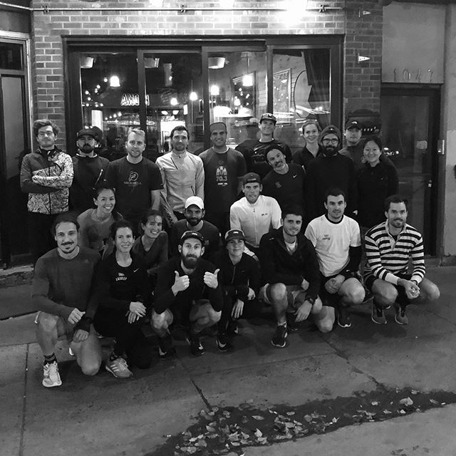 First Tuesday of many others at Bar Chez Baptiste. Meet us every Tuesday for our social run. 7:25, free and open to all ⚡️🔥 #elrc #werun365 #🏆👀