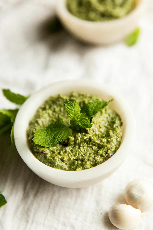 Fresh Paleo Mint Pesto