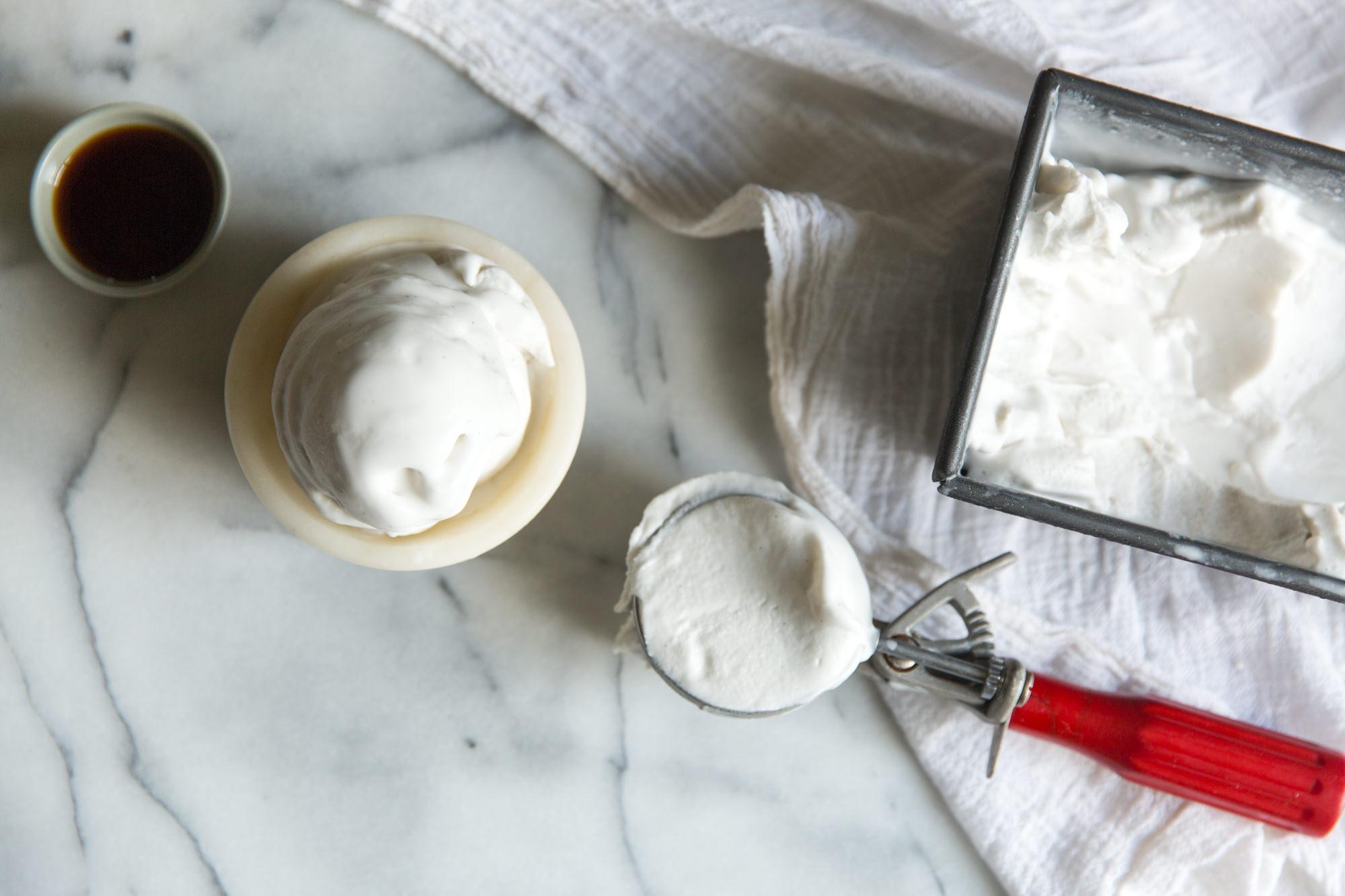 Serving Vegan Ice-cream