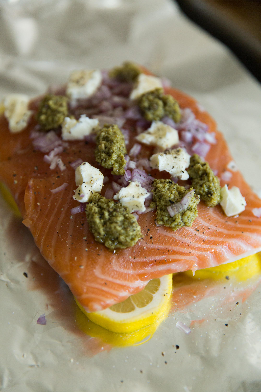 Topping Salmon Before Baking