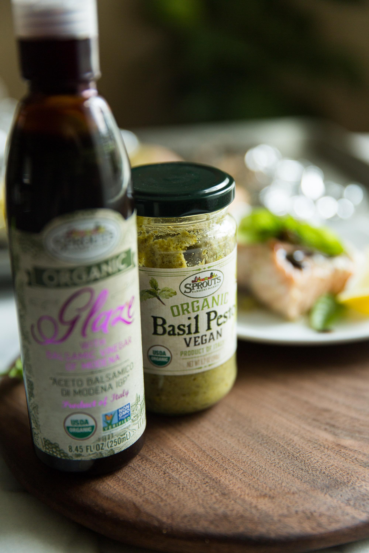 Organic Balsamic and Vegan pesto