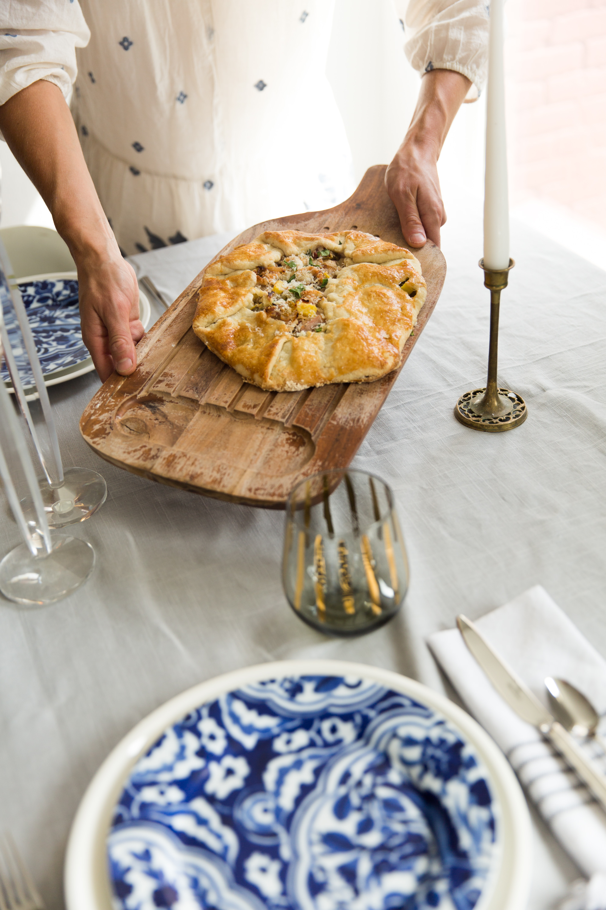 Placing Galette On Table