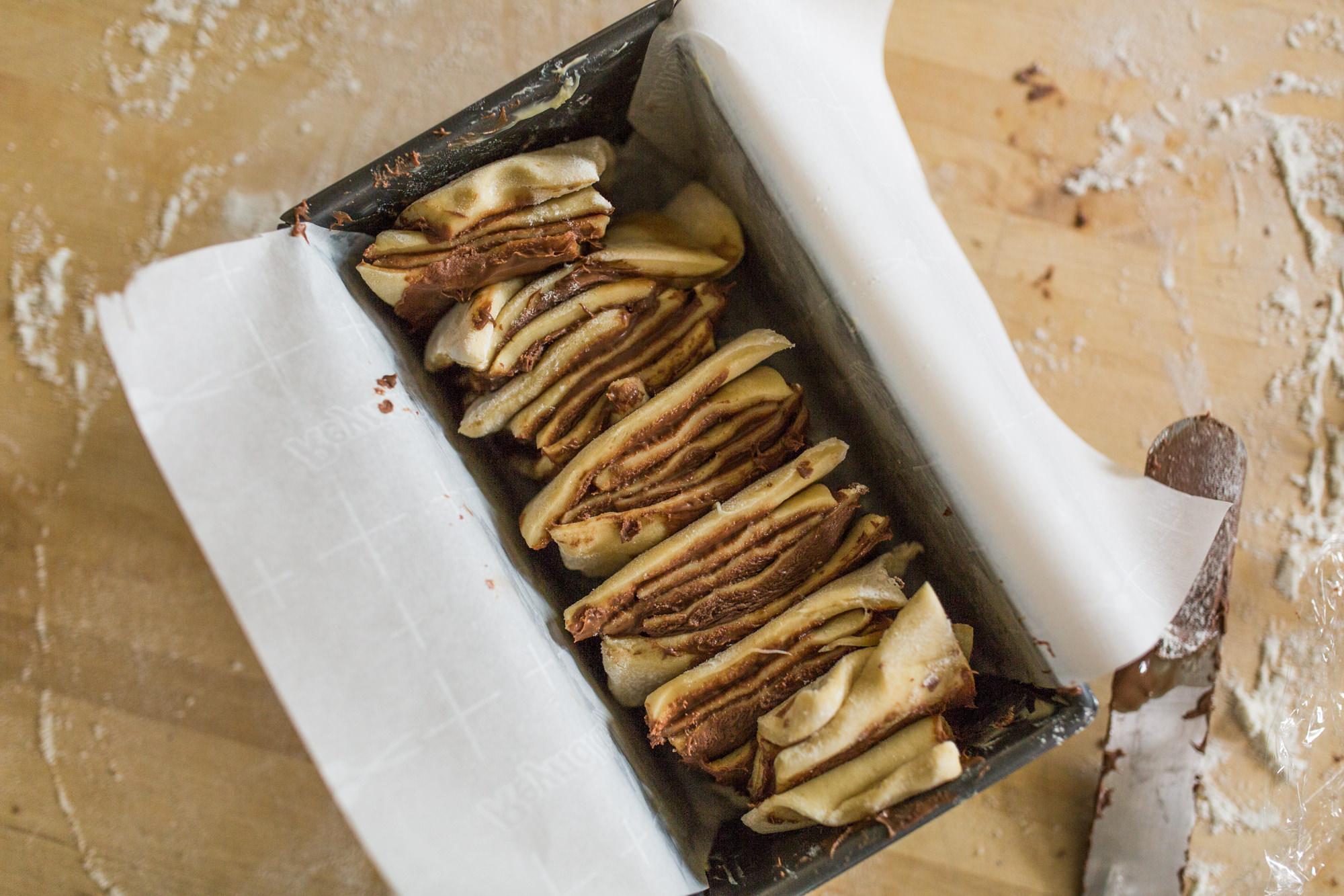 Placing Dough In Baking Dish