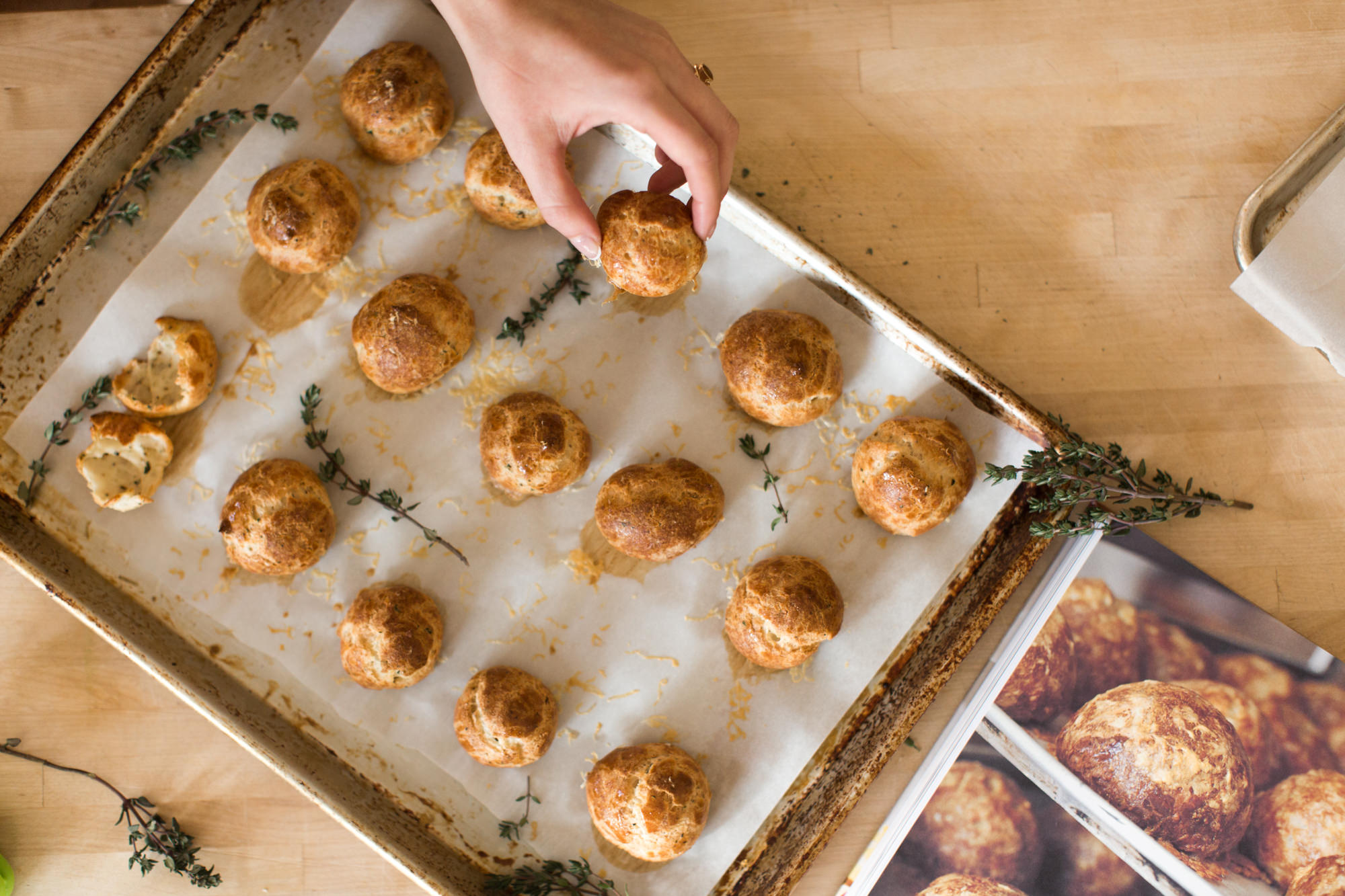 baked gougères