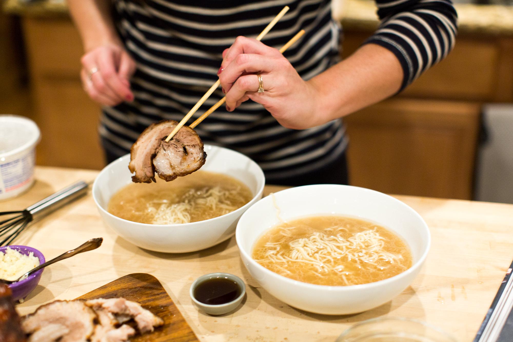 Instant Pot Tonkotsu with Fresh Ramen Noodles